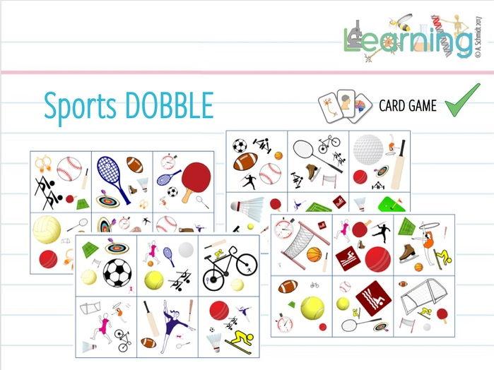 PE / Sports / Exercise - DOBBLE game
