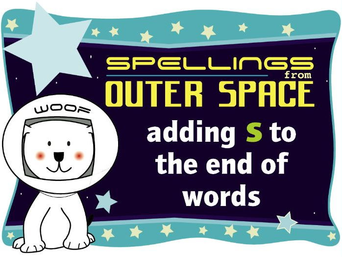 Year 1 Spellings from Outer Space: Adding S to the end of words