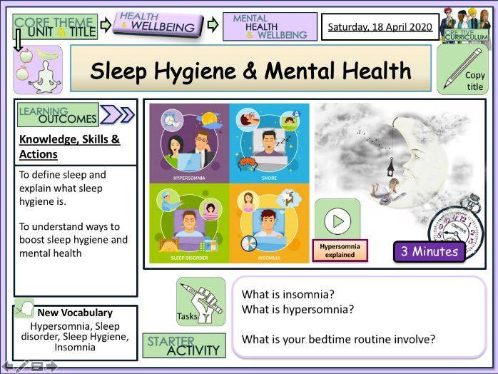 Sleep Hygiene + Mental Health