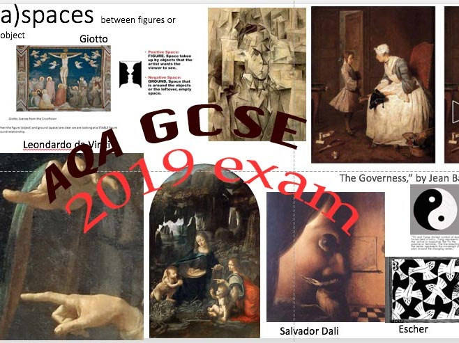 GCSE AQA Art and Design 2019 Exam resources for 2019. Eg. of artworks from question paper topics.