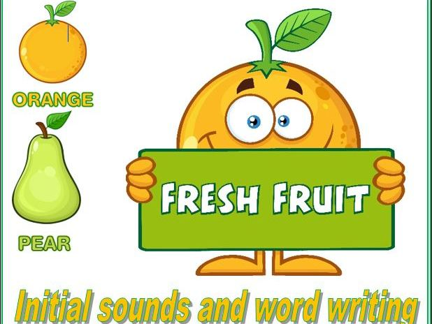 Fresh Fruit Initial Sound and Word Work