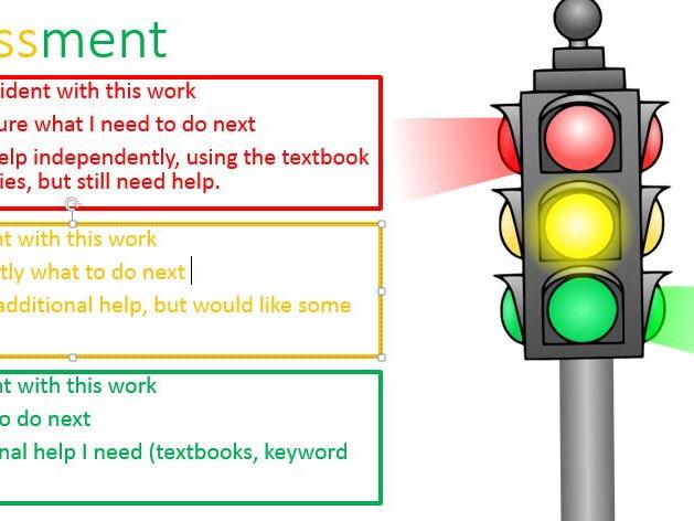 RAG PowerPoint Descriptor Slide