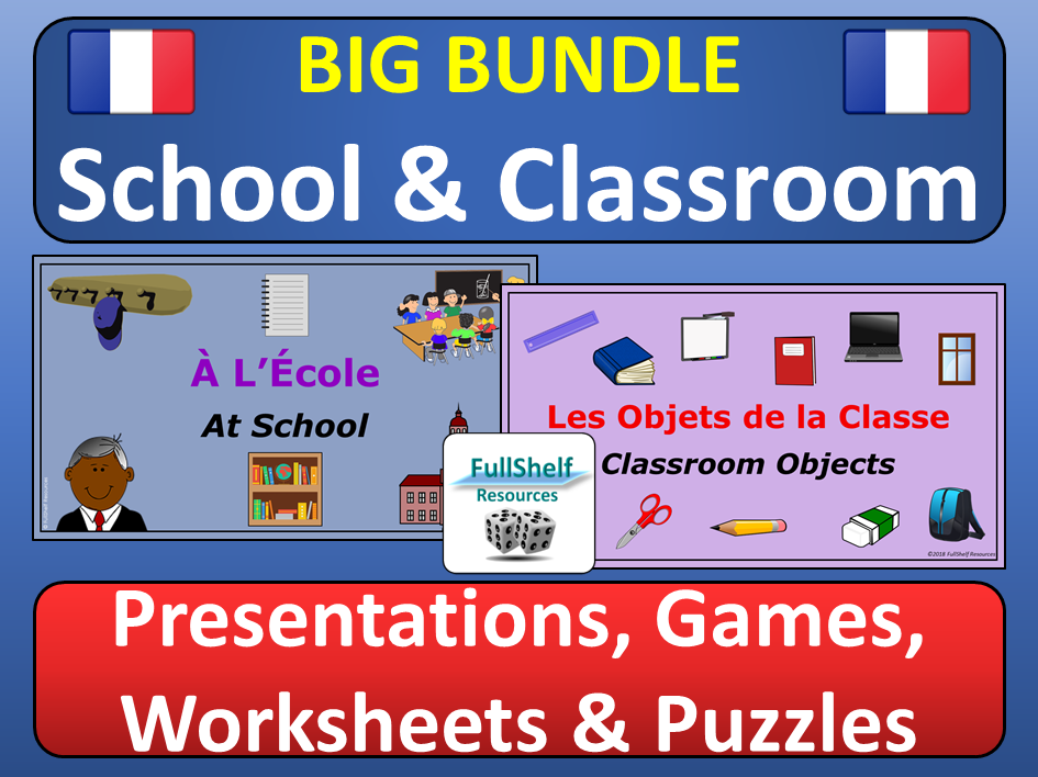 French Classroom Objects and School Vocabulary