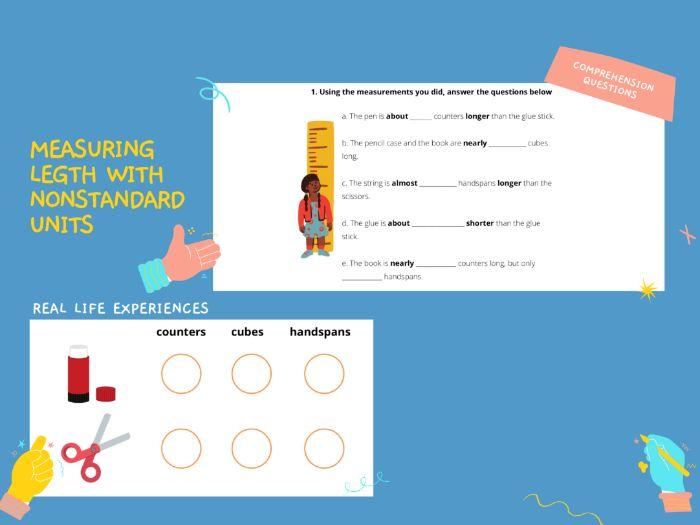 Measuring Lengths - Nonstandard Units Worksheet