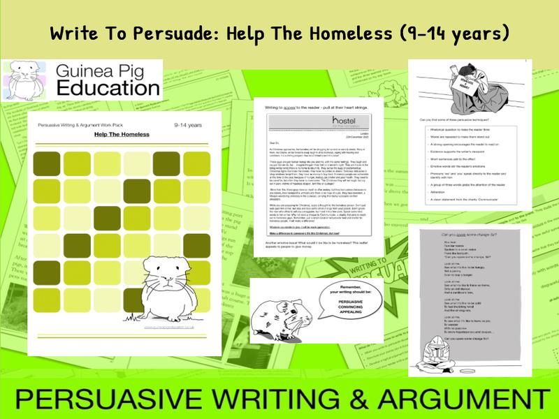 Write To Persuade: Help The Homeless (9-14 years)