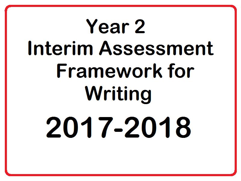 2017-2018 KS1 Writing Checklist for the Interim Assessment Framework