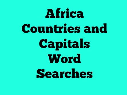 Africa Countries and Capitals Word Search