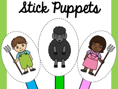 Baa Baa Sheep Stick Puppets