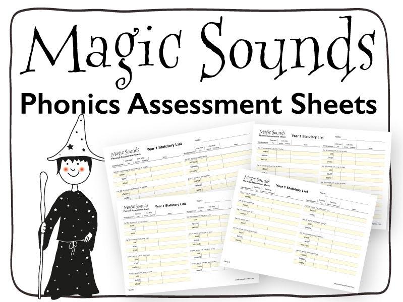 Phonics Assessment Sheet: Year 1