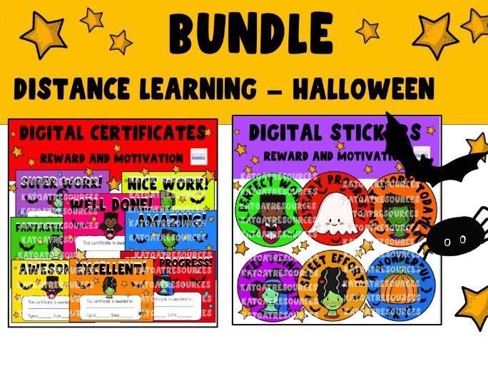 Halloween Mini Bundle - Digital Certificates and Digital Stickers
