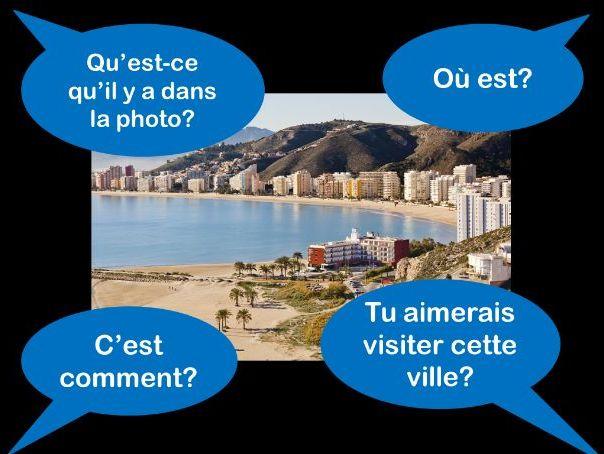 French foundation GCSE photo card practice holidays