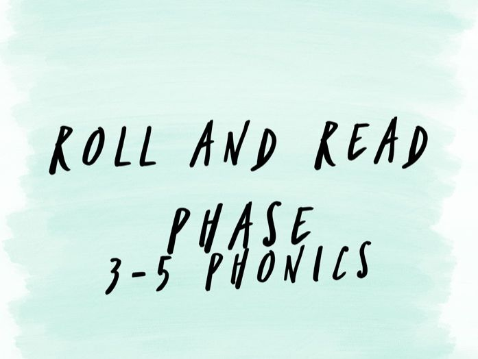 Phase 3-5 Phonics Game - Roll and Read