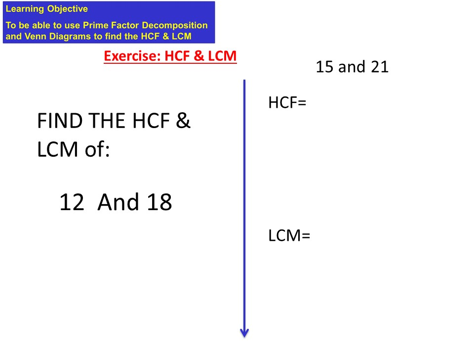 HCF/LCM using Venn Diagrams