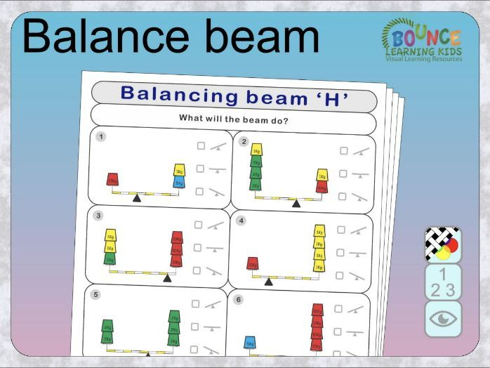 Balance beam: Which way will it lean? Distance learning worksheets