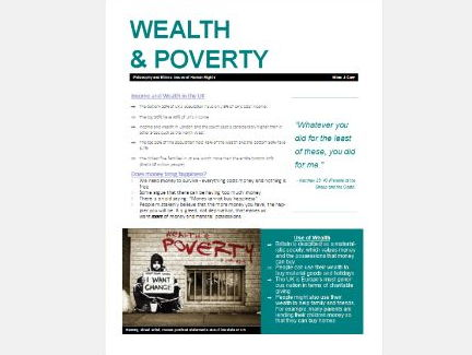 WJEC Eduqas Issues of Human Rights: Wealth and Poverty Exam Booklet Revision