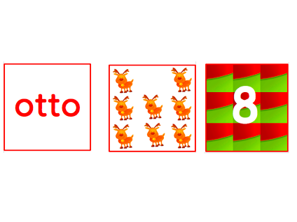 Italian- Christmas Number Cards Game 1 to 10.Natale