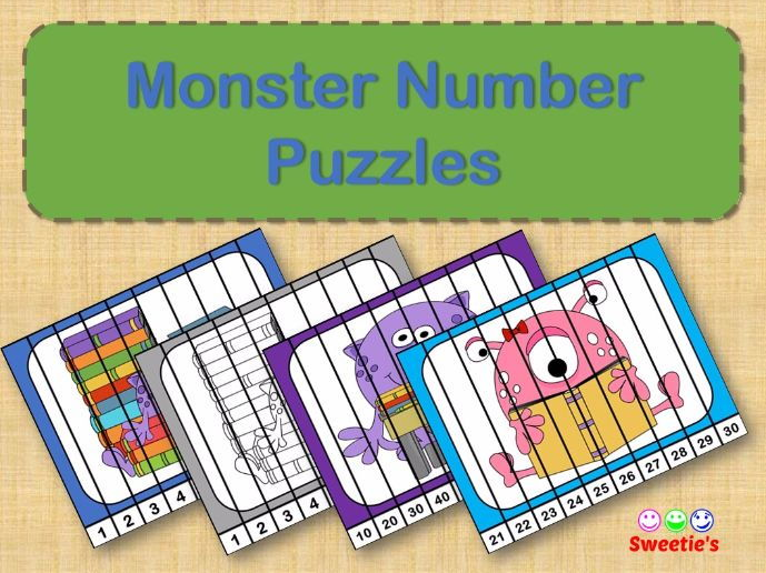 Number Puzzles - Monsters