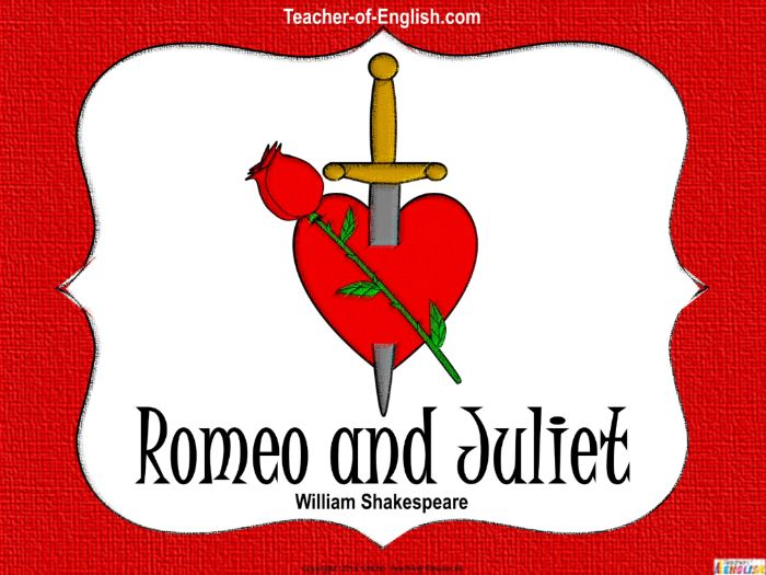 Romeo and Juliet Unit of work (PowerPoint, worksheets and lesson plans)