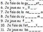 French sports simple spelling task