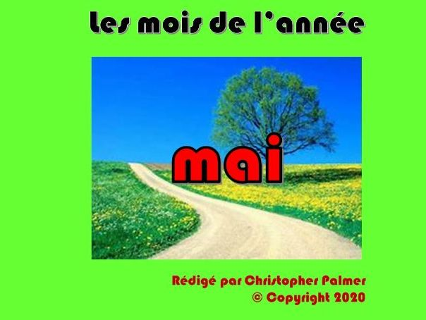 French: Months of the year, weather and the season spring - May (Key Stage 2)