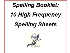 Spellings: Ten worksheets -copy/cover/check