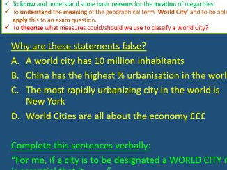 GEOG.3 AQA World Cities PowerPoint revision