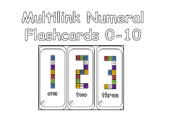 Multilink Numeral Flashcards 0 - 10