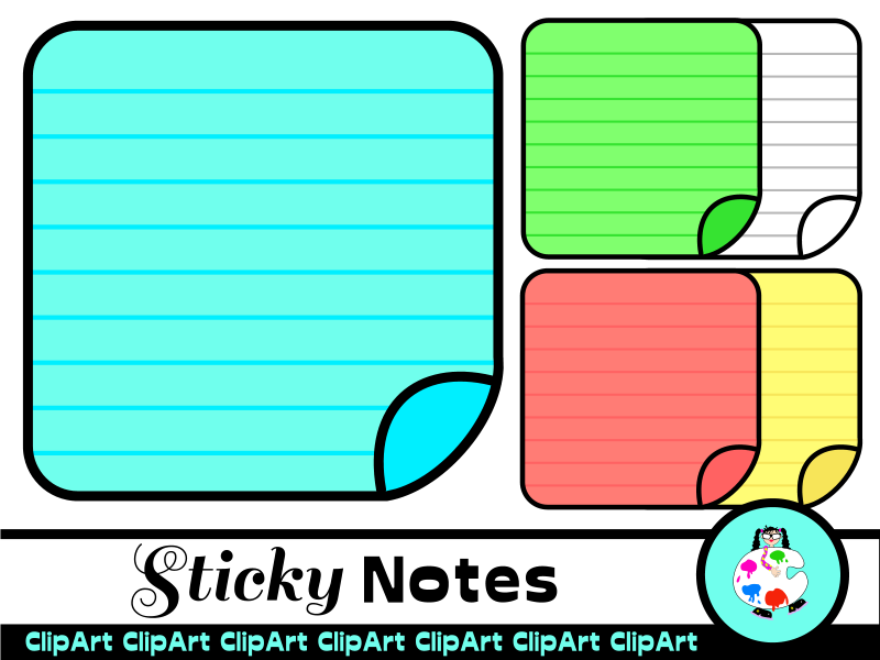 Sticky Notes Clip Art Set