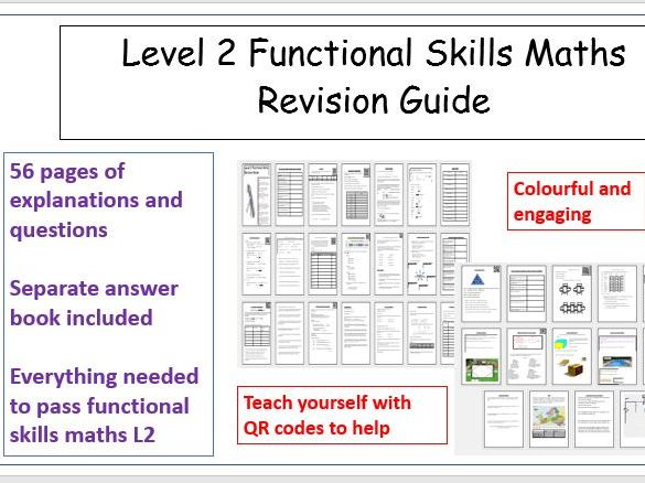 Functional Skills Maths L2 Revision 2 in 1 Guide & Workbook includes answers