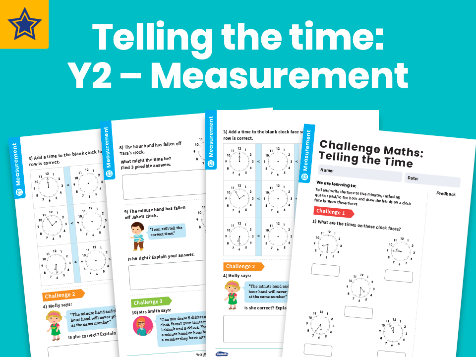 Telling the time: Y2 – Measurement – Maths Challenge