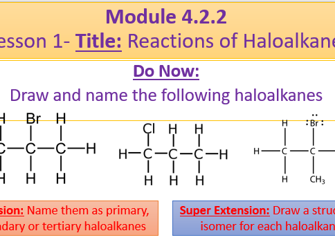 A Level Chemistry OCR A Module 4.2.2