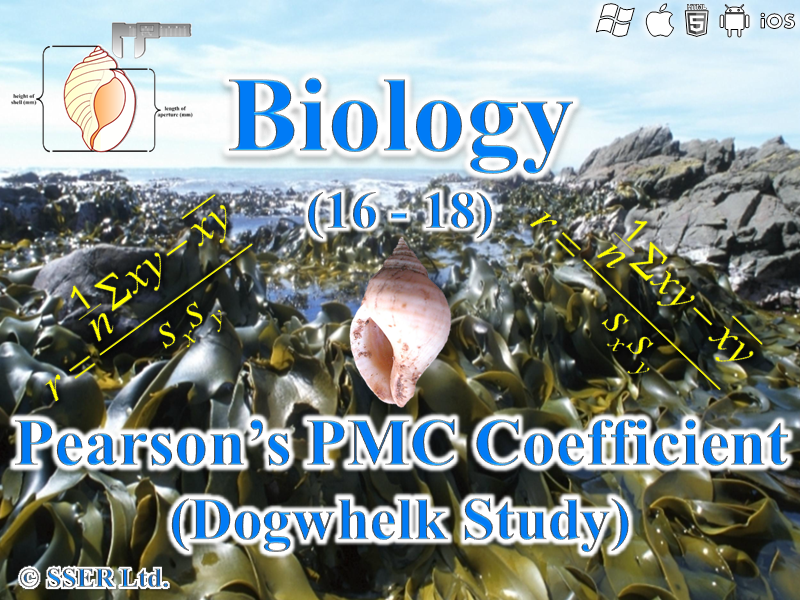 3.7.4 Statistics - Rocky Shore Fieldwork - Pearson's PMC Test