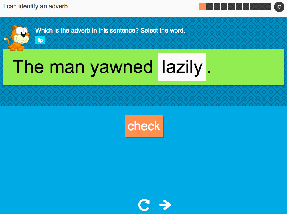 I can identify an adverb - Interactive Activity - Year 2 Spag