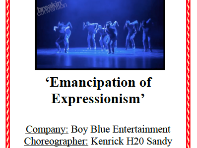 AQA GCSE Dance - Emancipation of Expressionism