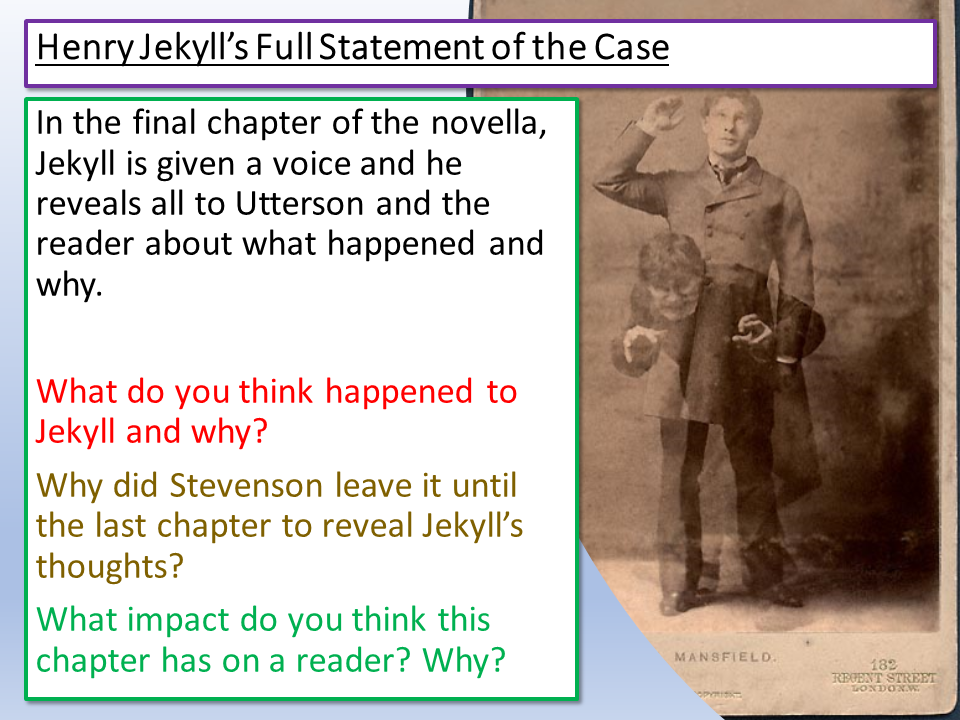 Jekyll and Hyde Full Statement of the Case