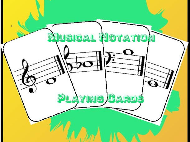 Musical Notation Playing Cards