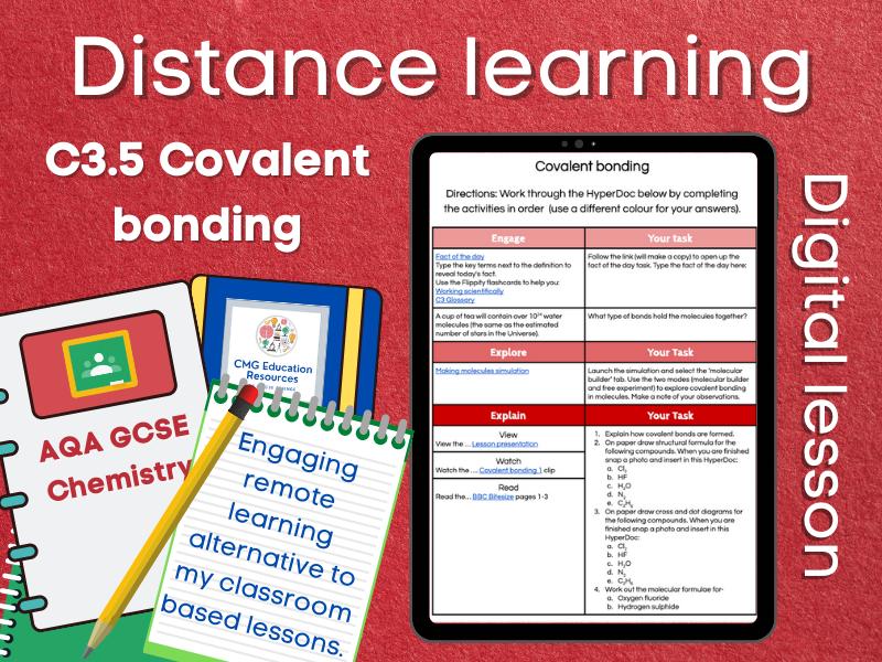 SC3.5 Covalent bonding: Distance learning (AQA GCSE Chemistry)