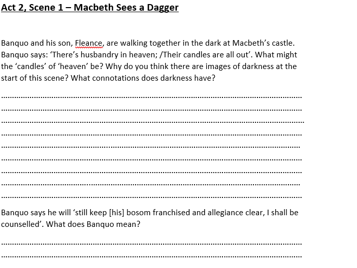 Macbeth Act 2, Scene 1 Analysis