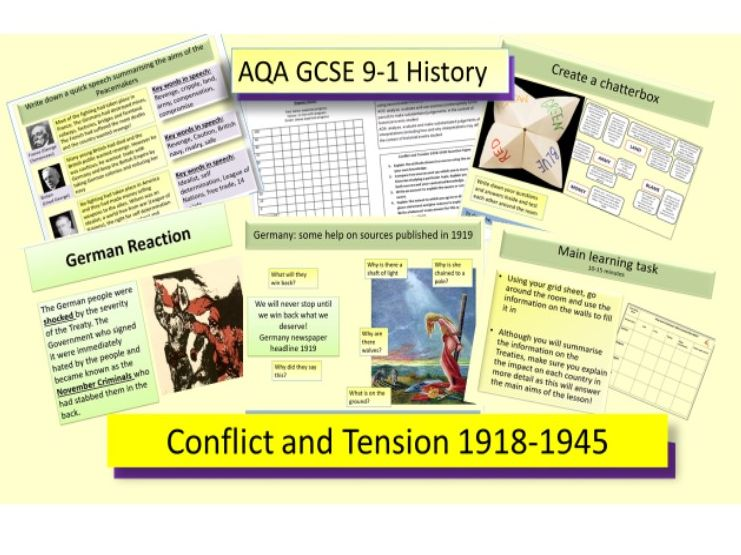 AQA GCSE 9-1 Conflict and Tension 1918-39: Peacekeeping Part 1
