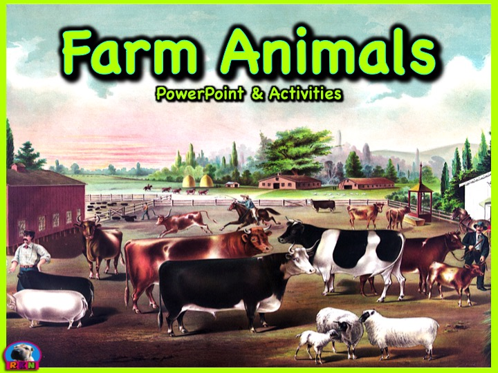 Farm Animals - PowerPoint & Activities