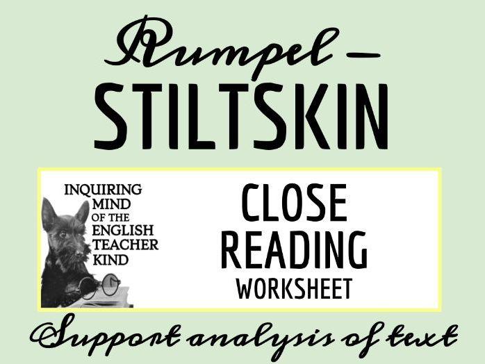 "Grimms' Fairy Tale ""Rumpelstiltskin"" Close Reading"