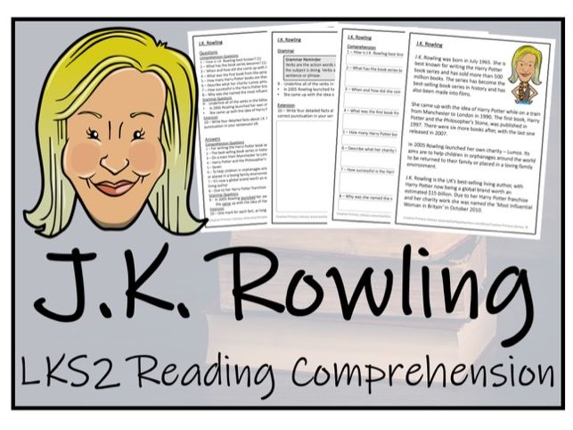 LKS2 Literacy - J.K. Rowling Reading Comprehension Activity
