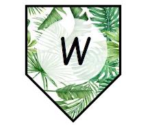Writing bunting leaf themed