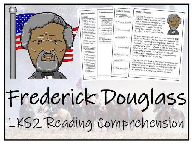 LKS2 Frederick Douglass Reading Comprehension Activity
