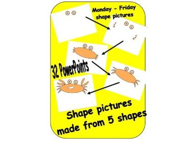 Shape of the day - 5 shapes to make a picture