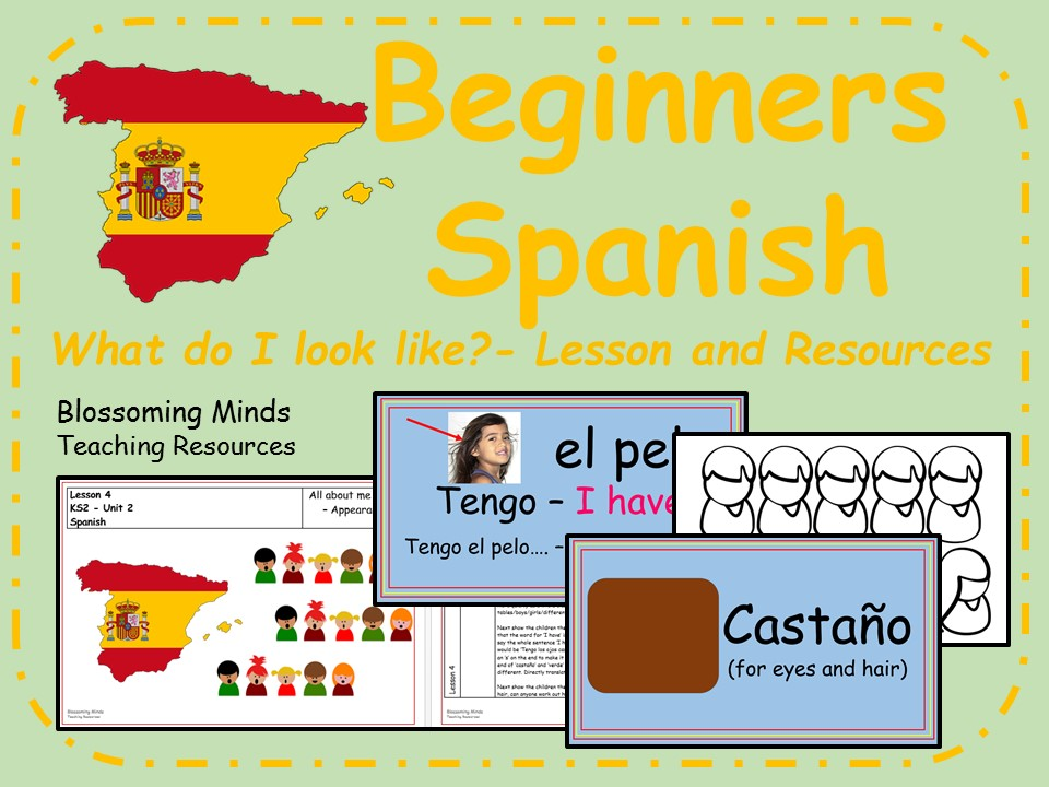 Spanish lesson and resources - KS2 - What do I look like?