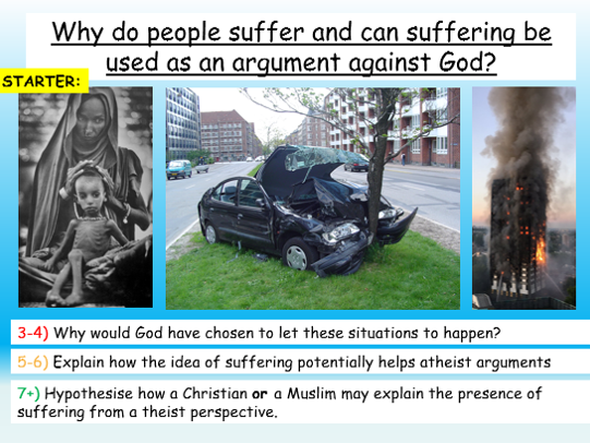Suffering, Evil +  God - AQA Theme C