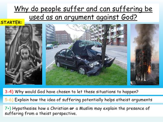 Suffering, Evil +  God - AQA Theme C