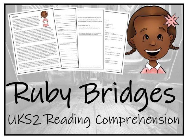 UKS2 Ruby Bridges Reading Comprehension Activity