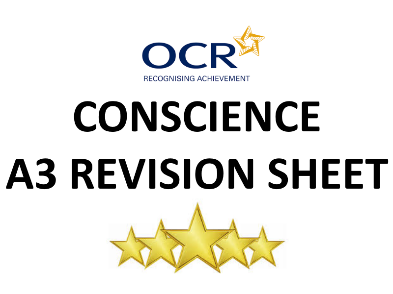 Conscience (Ethical Theory) A3 Revision Sheet
